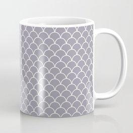 Small scallop pattern in lilac-gray Coffee Mug