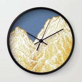 """遠望 series -""""Valley"""" in Circle - Linocut Wall Clock"""