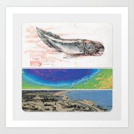 New Naturalism I: Dunkleosteus/ Hellas-Planatia seabed/ Kuwait City Art Print