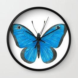 Morpho Butterfly Illustration Wall Clock