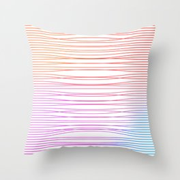 Gradient curved lines Throw Pillow
