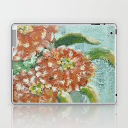 Orange Zinnias Laptop & iPad Skin