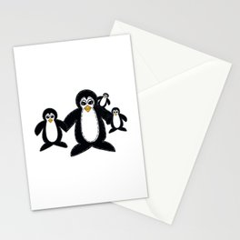 Adorable Toy Penguin Family Stationery Cards