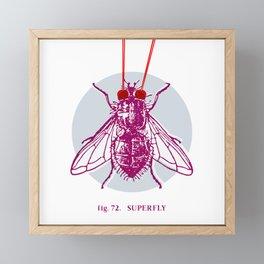 fig. 72 superfly Framed Mini Art Print