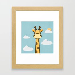 Kawaii Cute Giraffe Framed Art Print