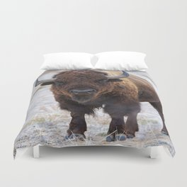 In The Presence Of Bison #society6 #decor #bison by Lena Owens @OLena Art Duvet Cover