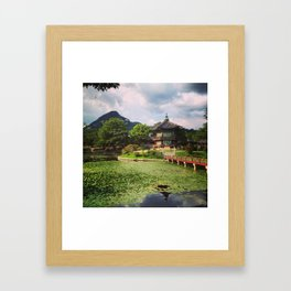 Lily Pads at Gyeongbokgung Framed Art Print