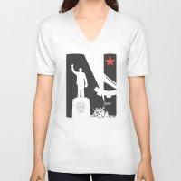 1975 V-neck T-shirts featuring Neto 11Nov 1975 by O ilusionista