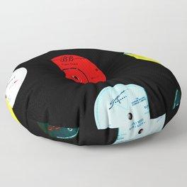 Vinyl Records Version 2 Floor Pillow