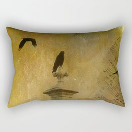 Musical Crows Rectangular Pillow