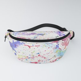 Watercolor Splash Paint Splatter Fanny Pack