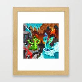 Baby Dragons Framed Art Print