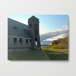 In the Shadow of the Old Stone Church  Metal Print