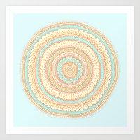 carousel Art Prints featuring Carousel by Anita Ivancenko