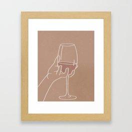 Wine Aesthetic Framed Art Print