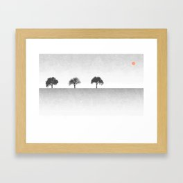 Tree Artwork Landscape Framed Art Print