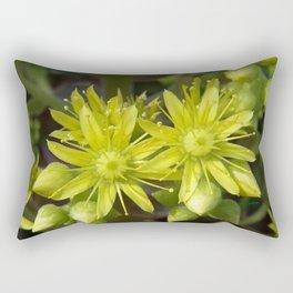 Blooming Green Rectangular Pillow