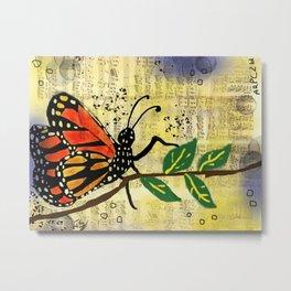 Monarch Butterfly Magic Metal Print