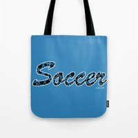 soccer Tote Bags featuring Soccer by joanfriends