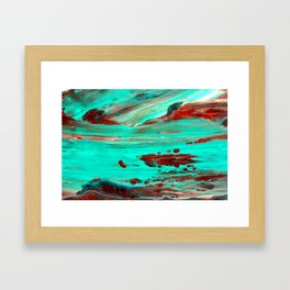 Brown Framed Art Print