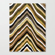 Green/Yellow/Brown Slice Canvas Print