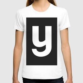 letter Y (White & Black) T-shirt