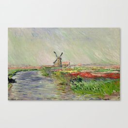Monet, Tulip Field in Holland, 1886 Canvas Print