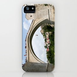 Mostar Bridge Jumper iPhone Case