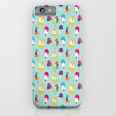 Ice cream pattern - light blue iPhone 6s Slim Case