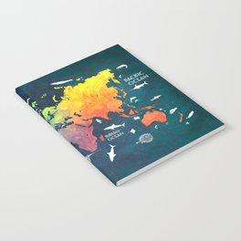 Ocean World Map color #map #worldmap Notebook