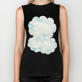 Somewhere | Beautiful Fluffy Clouds  Biker Tank