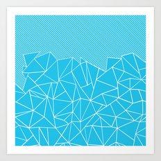 Ab Lines 45 Electric Art Print