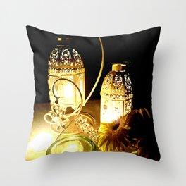 Candlelight dinner Throw Pillow