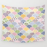 scales Wall Tapestries featuring Spring Scales by swissette
