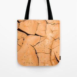 Cracked Terrain in Morocco Tote Bag