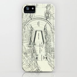 Vintage Map of The Hoover Dam (1930) iPhone Case