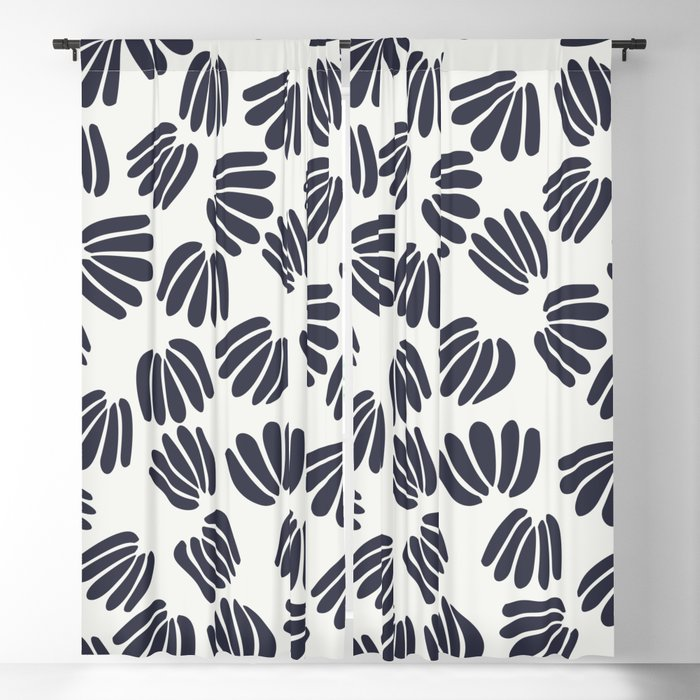 Abstract Floral V Blackout Curtain
