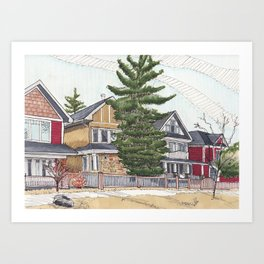 Kensington Houses Art Print