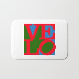 Velo Love – Logo – June 12th – 200th Birthday of the Bicycle Bath Mat