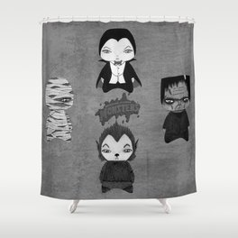 A Boy - Universal Monsters Black & White édition Shower Curtain