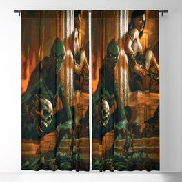 A Demon and His Succubus Blackout Curtain