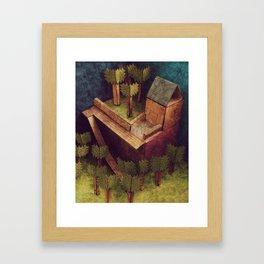 Forest House Framed Art Print