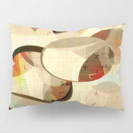 Mod art, circle art, Mid Century Modern Pillow Sham