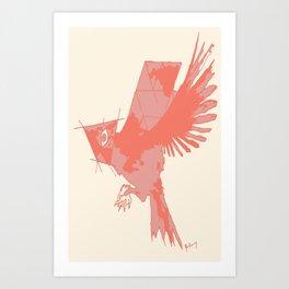 Tilted Bird Art Print