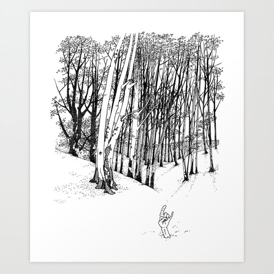 Forest of Death Art Print