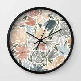 Florals & Foliage (Balloon Florals) Wall Clock