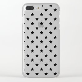 Black stars in rows Clear iPhone Case