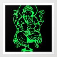 hindu Art Prints featuring Hindu god by Littlefox