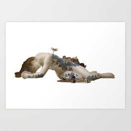 carillon girl Art Print
