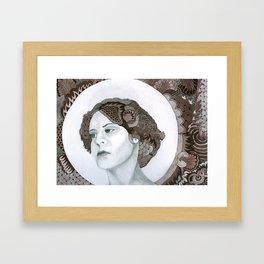 Haloed Lady For Sale!!! Framed Art Print